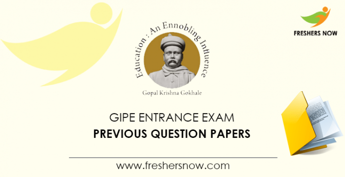 GIPE Entrance Exam Previous Question Papers