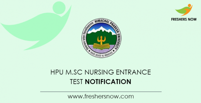 HPU M Sc Nursing Entrance Test