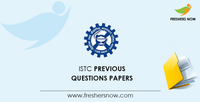ISTC Entrance Exam Previous Question Papers