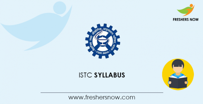 ISTC Entrance Exam Syllabus