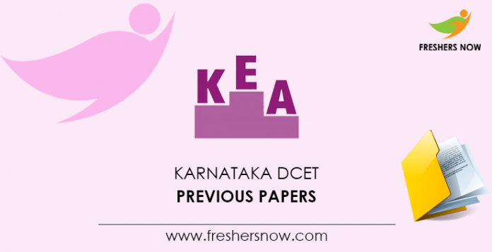 Karnataka DCET Previous Question Papers