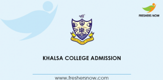 Khalsa College Admission
