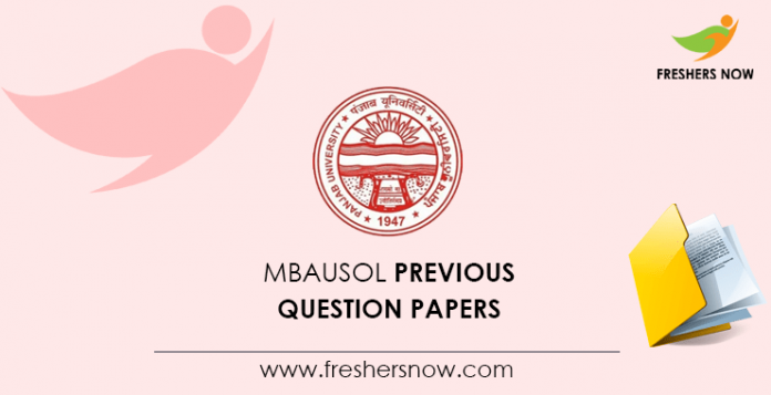 MBAUSOL Previous Question Papers