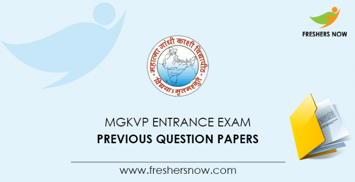 MGKVP Entrance Exam Previous Question Papers