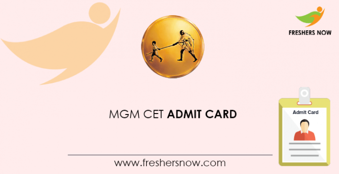 MGM CET Admit Card