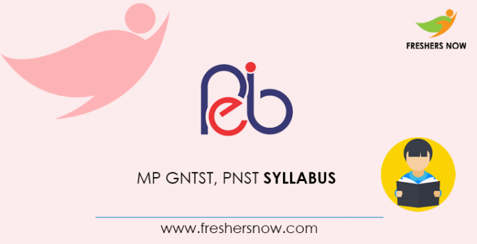 MP GNTST PNST Syllabus