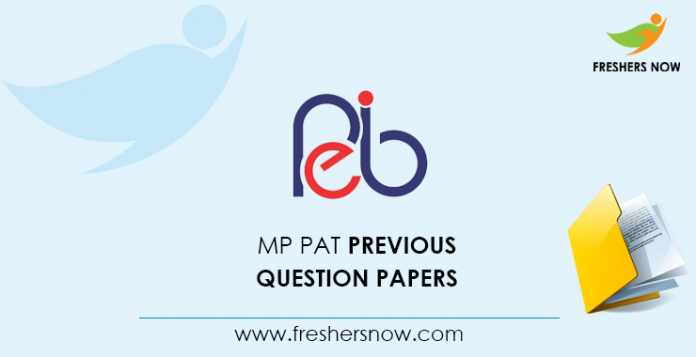 MP PAT Previous Question Papers