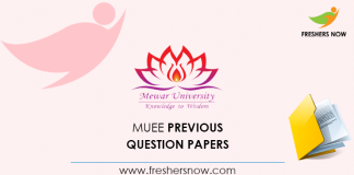 MUEE Previous Question Papers
