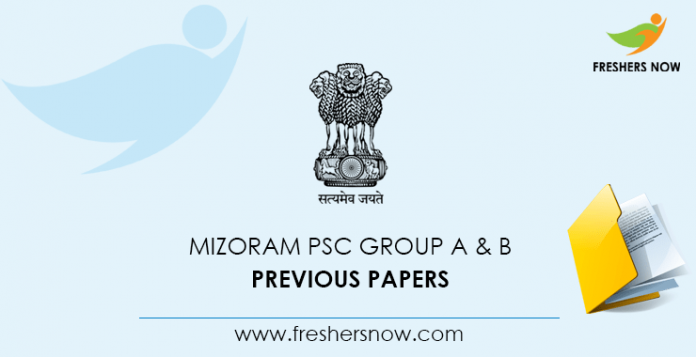 Mizoram PSC Group A Previous Papers