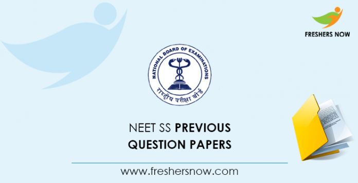 NEET SS Previous Question Papers