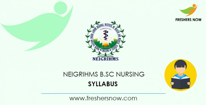 NEIGRIHMS B.Sc Nursing Syllabus