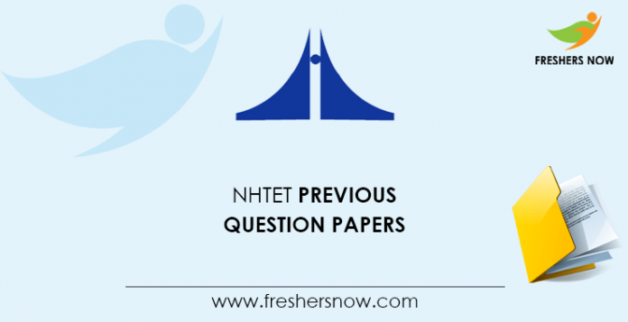 NHTET Previous Question Papers