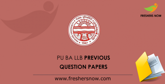 PU BA LLB Previous Question Papers