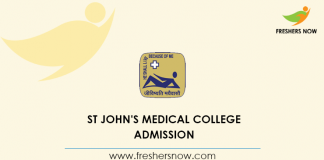 St John's Medical College Admission