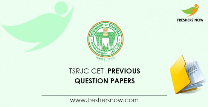 TSRJC CET Previous Question Papers