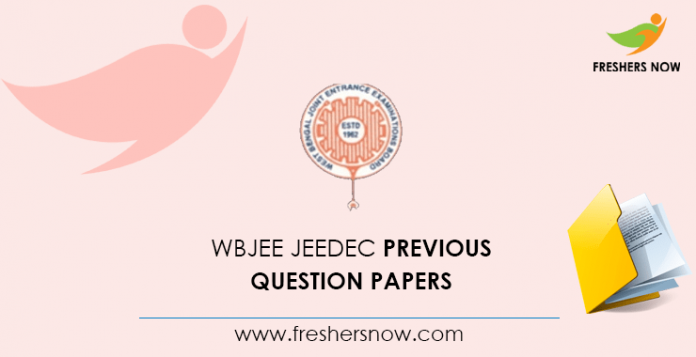 WBJEE JEEDEC Previous Question Papers