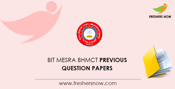 BIT Mesra BHMCT Previous Question Papers