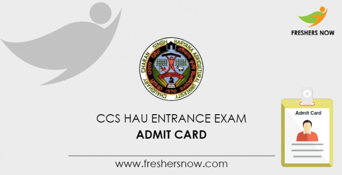 Admission card to the entrance exam to CCS HAU