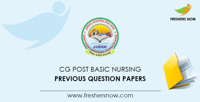 CG Post Basic Nursing Previous Question Papers