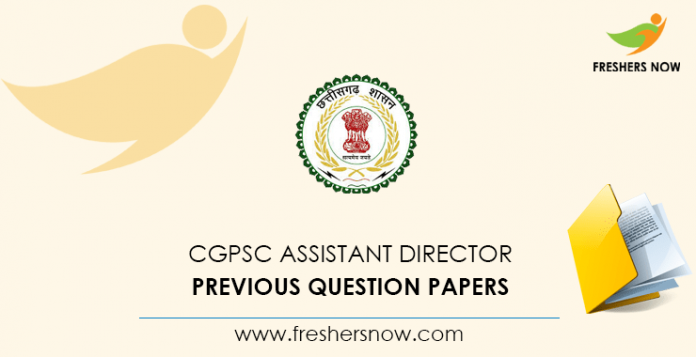 CGPSC Assistant Director Previous Question Papers