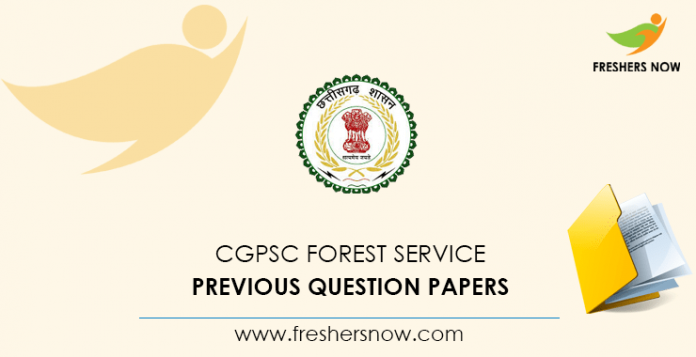 CGPSC Forest Ranger Previous Question Papers