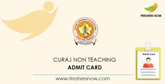 CURAJ Non Teaching Admit Card
