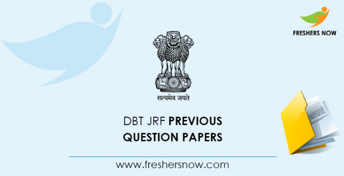 DBT JRF Previous Question Papers