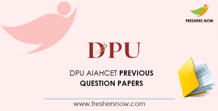 DPU AIAHCET Previous Question Papers