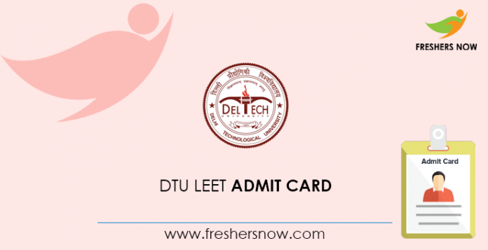 DTU LEET admission card