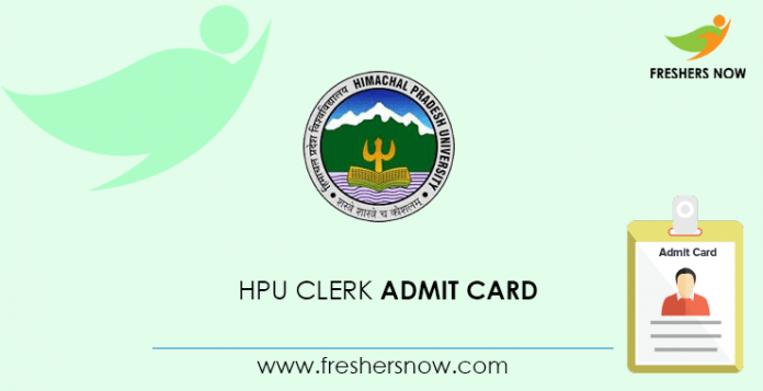 HPU Clerk Admit Card