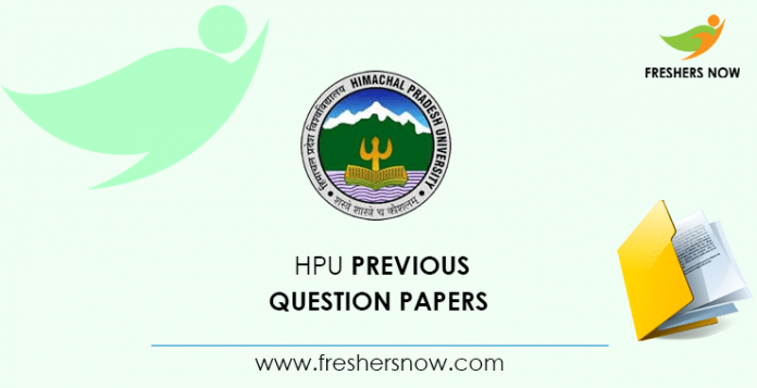 HPU Clerk Previous Question Papers