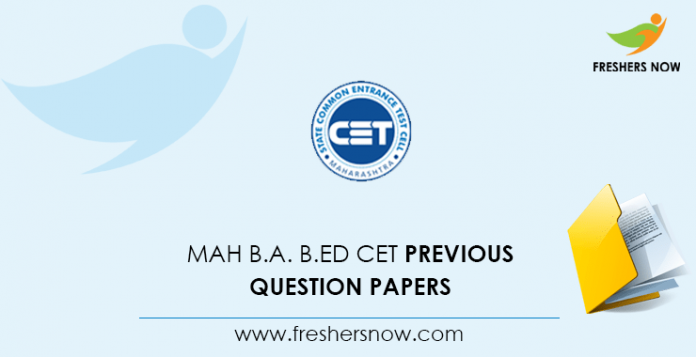 MAH B.A. B.Ed CET Previous Question Papers