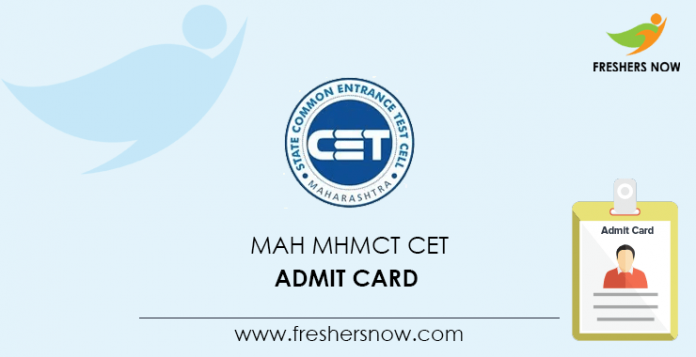 MAH MHMCT CET Admit Card