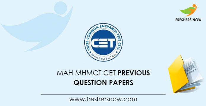 MAH MHMCT CET Previous Question Papers