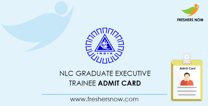 NLC Graduate Executive Apprentice Admission Card