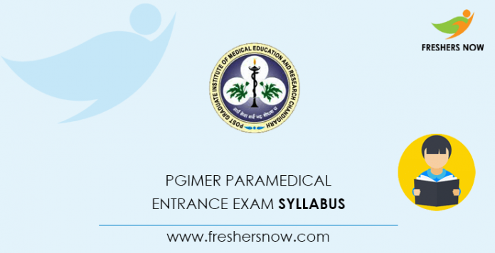 PGIMER Paramedical Entrance Exam Syllabus
