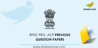 RPSC Forest Range Officer Previous Question Papers