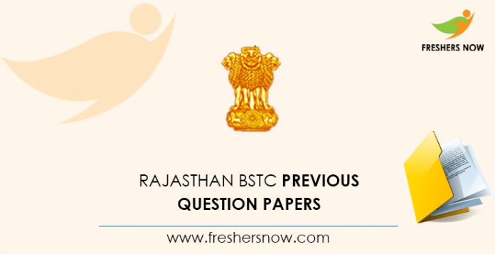 Rajasthan BSTC Previous Question Papers