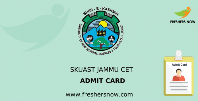 SKUAST Jammu CET Admit Card