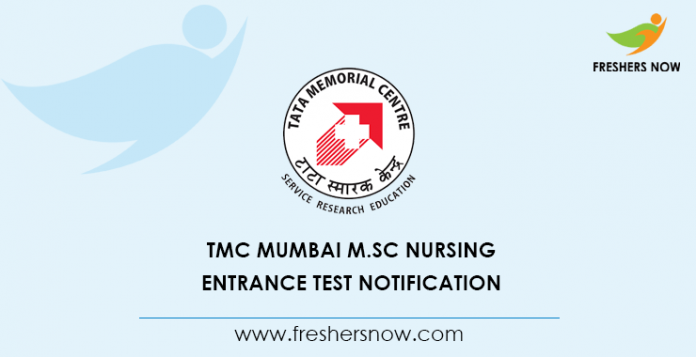TMC Mumbai M.Sc Nursing Entrance Test 2020 Notification