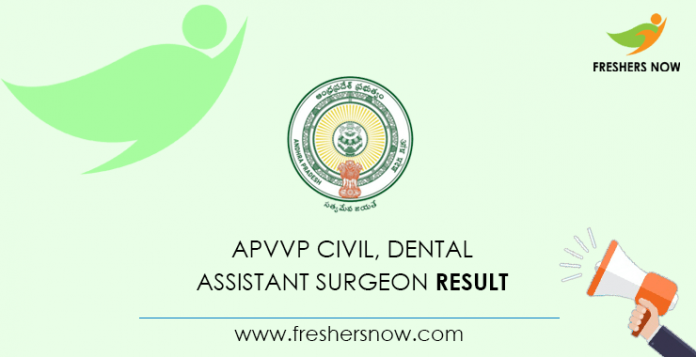 Civil APVVP, Dental Assistant Surgeon Result