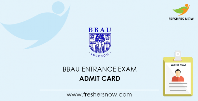 Admission card to the BBAU entrance exam