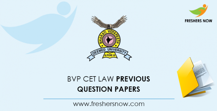 BVP CET Law Documents from previous questions
