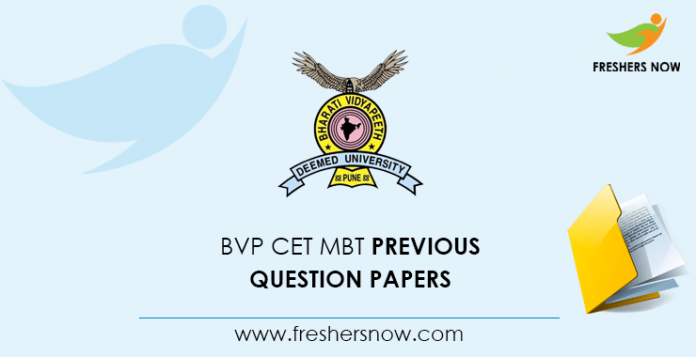 BVP CET MBT Previous Question Papers