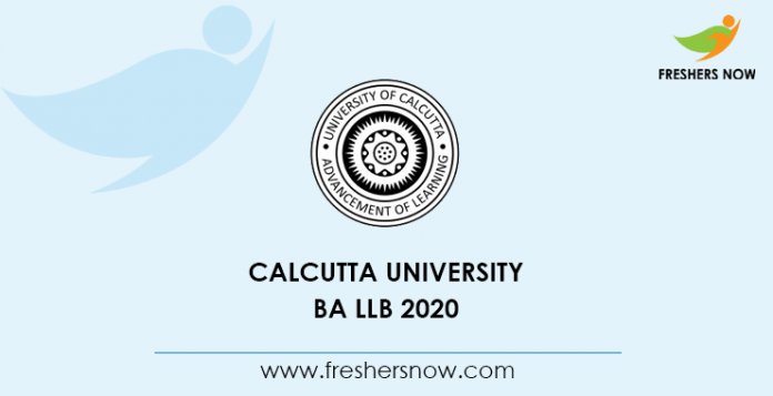 Calcutta University BA LLB 2020 Notification