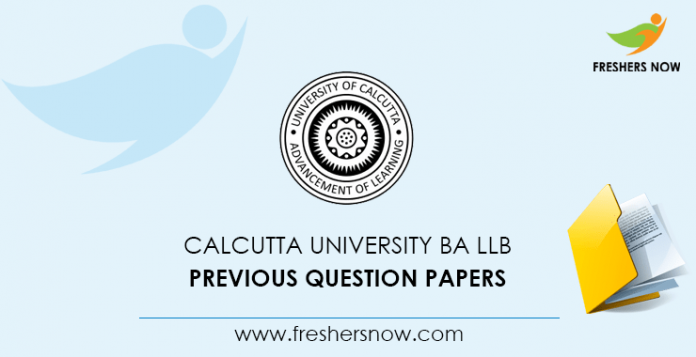 Calcutta University BA LLB Previous Question Papers