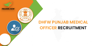 DHFW Punjab Medical Officer Recruitment