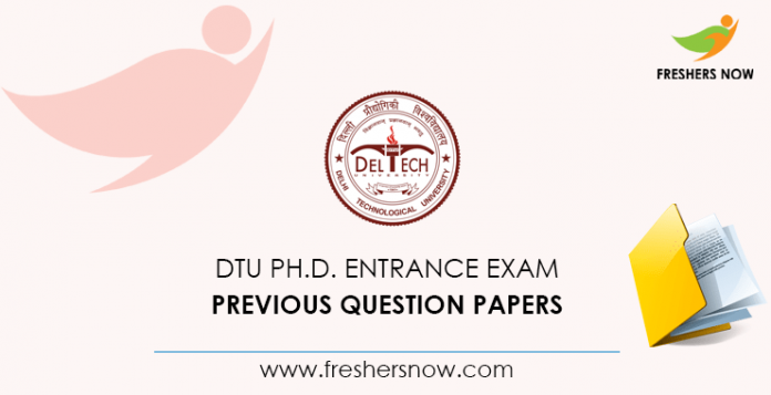 DTU Ph.D. Entrance exam Documents from previous questions