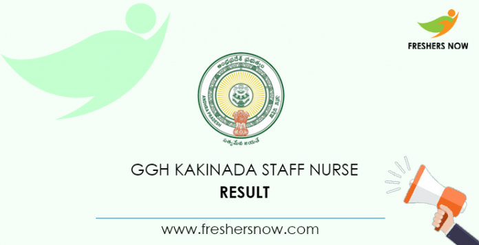 GGH Kakinada Staff Nurse Result