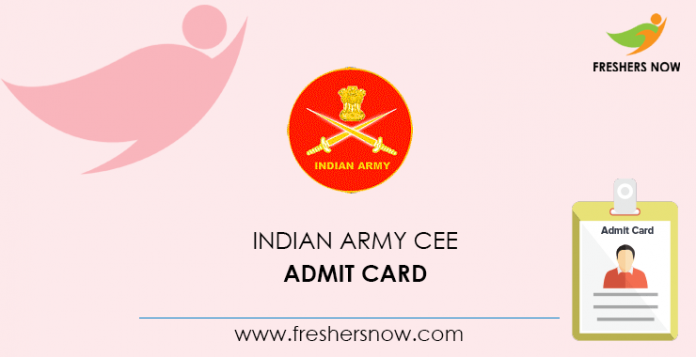 Indian Army CEE Admit Card